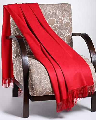 100% Natural Baby Alpaca Throw Blanket | Super Soft, Lightweight, Warm and Hypoallergenic | Peruvian Alpaca Wool ()