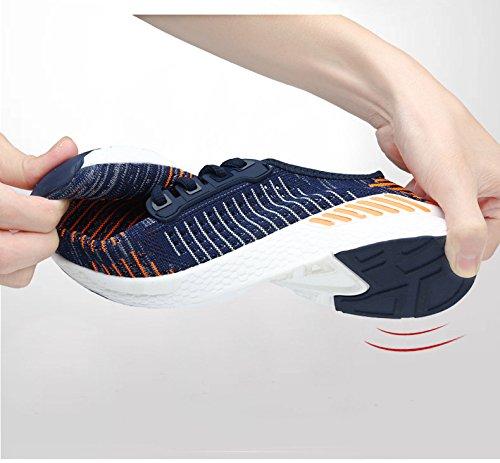 Atmungsaktive Freizeit Mesh BAINASIQI Sportschuhe Turnschuhe Sneakers Tennisschuhe orange Damen Blau Laufschuhe Herren xw77Hft