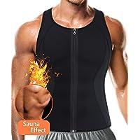 TAILONG Men Hot Neoprene Workout Sauna Tank Top Zipper Waist Trainer Vest Weight Loss Body Shaper Compression Shirt Gym Clothes Corset