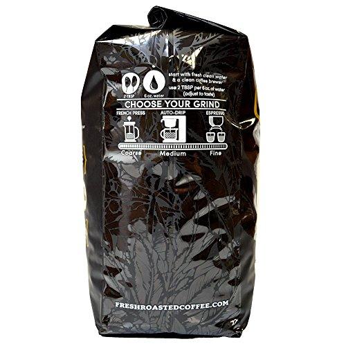 Fresh Roasted Coffee LLC, Black Knight Organic Coffee, Dark Roast, Fair Trade, USDA Organic, Whole Bean, 5 Pound Bag by Fresh Roasted Coffee (Image #3)