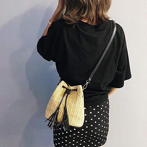 Unique Noir à Femme Mangetal pour Porter à Sac Noir l'épaule Taille n0qzPZz7T
