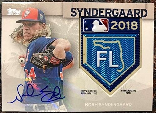 2018 Topps MLB Spring Training Logo Patch Autographed Relics #STAP-NS Noah Syndergaard NM-MT MEM Auto Mets from Topps