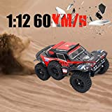 Hot  Wl 540 Brush Motor RC Off-Road Car 1:12 2.4G 4WD 60km/h High Speed Radio Remote Control Car Racing, RC Car Toys for Kids Age 8+ (red)
