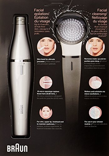 Braun Face 830 Women's Miniature Epilator, Electric Hair Removal, with Facial Cleansing Brush for Women (Beauty Edition) by Braun (Image #2)