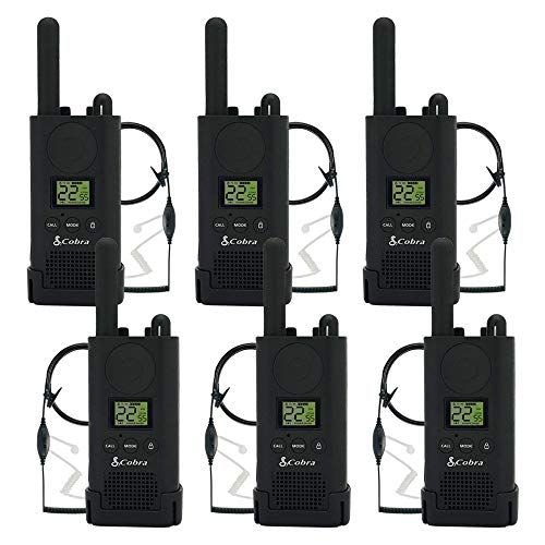Cobra PX500 Walkie Talkies Pro Business Two-Way Radios (Six Pack, Bundled with Six GA-SV01 Headsets) by Cobra (Image #1)