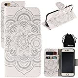 """iPhone 6 Plus & iPhone 6S Plus Case, DRUnKQUEEn® Leather Wallet Case Back Cell Phone Shell Skin Magnetic Flap Cover with Credit Card Holder for iPhone 6PLUS (5.5"""") / iPhone 6sPLUS (5.5"""")"""
