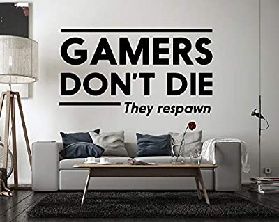 Gamer Video Game Wall Decals Controller Stickers Home Decor Customize for Kids Bedroom Vinyl Wall Art VG023