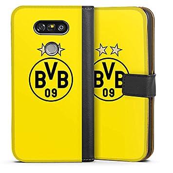 DeinDesign Tasche kompatibel mit Apple iPhone 8 Leder Flip Case Ledertasche Borussia Dortmund BVB Stadion