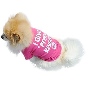 Bello Luna Camiseta para mascotas Puppy Free Kisses Costume Ropa para perros Apparel-S: Amazon.es: Productos para mascotas