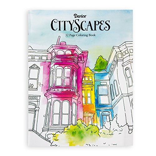 Amazon Darice 30000609 Cityscapes Theme Coloring Books For Adults Just Laughs Arts Crafts Sewing
