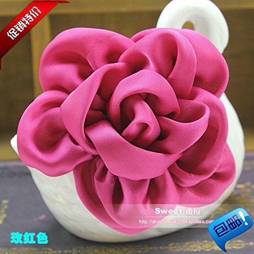 Korean fashion camellia brooch fabric will host a dinner in collar flower corsage brooch trinkets married woman