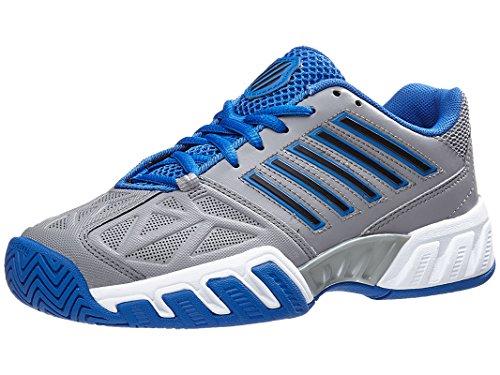 K-Swiss Juniors` Bigshot Light 3 Tennis Shoes Titanium and Strong Blue ()