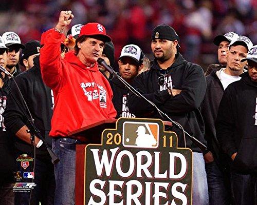 Albert Pujols & Tony LaRussa St. Louis Cardinals 2011 MLB World Series Victory Parade Photo (Size: 8