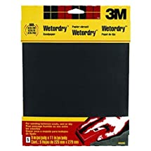 3M Wetordry Sandpaper, Very Fine Grit, 9-Inch by 11-Inch, 5-Sheet, 2 PACK