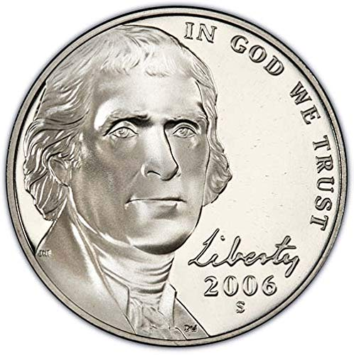 2006 S Proof Jefferson Nickel Choice Uncirculated US Mint ()