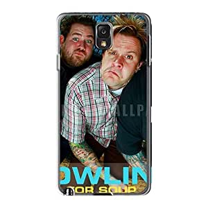 Bumper Hard Cell-phone Case For Samsung Galaxy Note3 With Custom Realistic Bowling For Soup Band Pattern LauraAdamicska