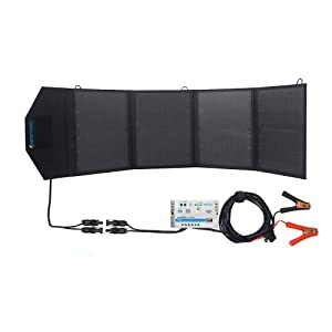ACOPOWER HY-4x12.5W 12V 50 Watt Portable Solar Panel Kit W/ 5A Charge Controller for RV, Boats, Camping