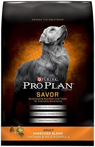Purina Pro Plan Dry Dog Food Savor Shredded Blend Adult Chicken & Rice Formula 35-Pound Bag Pack of 1