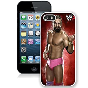Customized Apple iPhone 5S Case Wwe Superstars Collection Wwe 2k15 Damien Sandow in White Phone Case For iPhone 5S Case