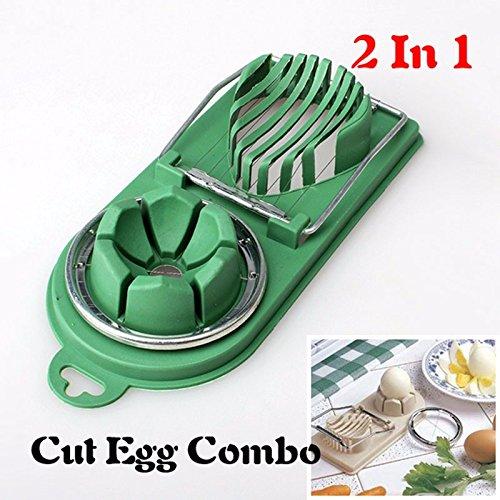 Stainless Steel Egg Slicer Egg Cutter Kitchen Tool (Blue) - 2