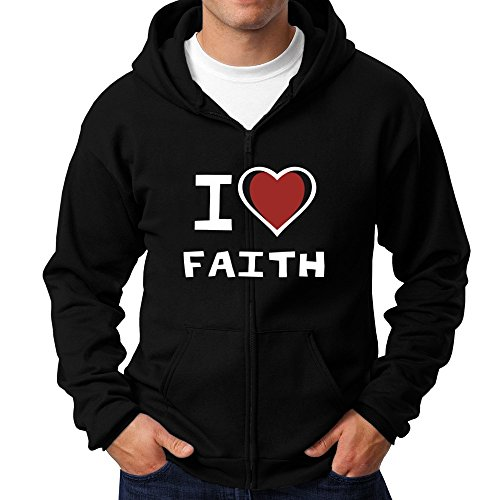 Teeburon I love Faith Zip Hoodie (Zip Hoodie Faith)