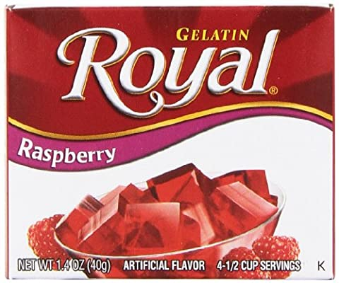 Royal Gelatin, Raspberry, 1.4-Ounce (Pack of 12) - Pantry Raspberry