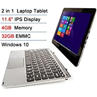 Intel Atom X5 Z8300 11.6 IPS 4GB RAM 32GB EMMC Touchscreen 2-in-1 Laptop Tablet PC Windows 10 + Bluetooth keyboard Docking
