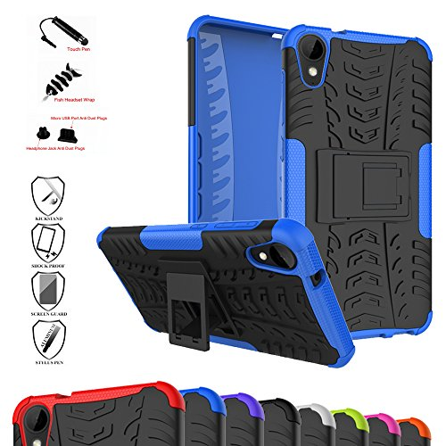 Desire 10 Life Style/Desire 825 Case,Mama Mouth Shockproof Heavy Duty Combo Hybrid Rugged Dual Layer Grip Cover with Kickstand For HTC Desire 10 Life Style/Desire (Htc Car Charger Silicone Skin)