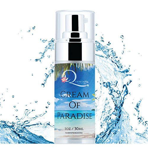 QuenchMe - Cream Of Paradise|COMPLETE Hand-Face-Body Lotion|32 Unique Actives-Nutrient Rich-Antioxidants-Anti-Inflammatory |FOR SENSITIVE SKIN| Fragrance, Paraben & Mineral Oil Free - 1oz (Face Body Squalane Hand Cream)