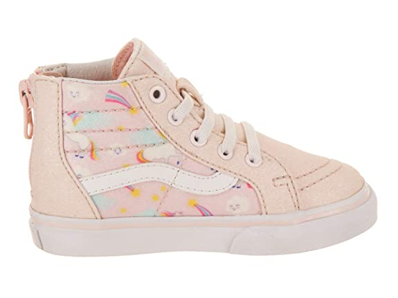 c2dcafd6bf Vans Toddler SK8-Hi Zip (Glitter Pegasus) Heavenly Pink True White  VN0A32R3U07 Toddler Size 2  Amazon.ca  Shoes   Handbags