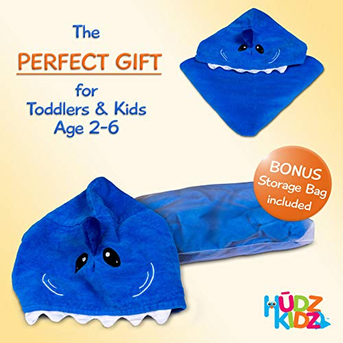 Hudz Kidz Softest Quick Dry Hooded Kids Shark Towel for Toddler - 5T - 100% Cotton Gently Snuggles Kids Dry. Get The Moms Love by Hudz Kidz (Image #5)