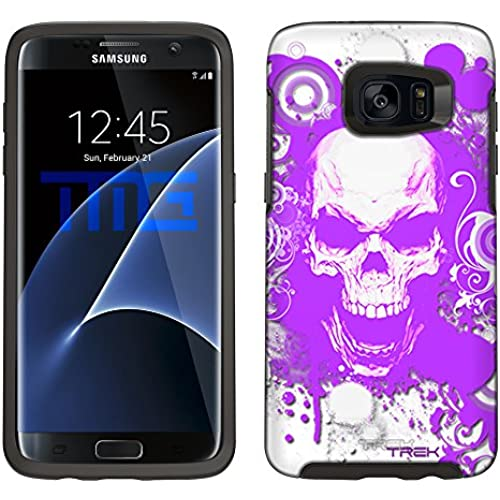 Skin Decal for Otterbox Symmetry Samsung Galaxy S7 Edge Case - Purple Skull on White Sales