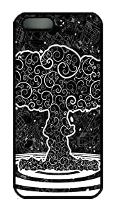 iPhone 5S Case Cover - Graphics Tree Art PC Hard Case Back Cover for iPhone 5S/5 - Black