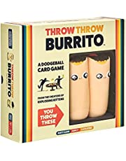 Throw Throw Burrito by Exploding Kittens - A Dodgeball Card Game for Indoor or Outdoor - Family-Friendly Party Games - Card Games for Adults, Teens & Kids - 2-6 Players