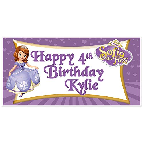 Sofia the First Birthday Banner Personalized Party Backdrop Decoration