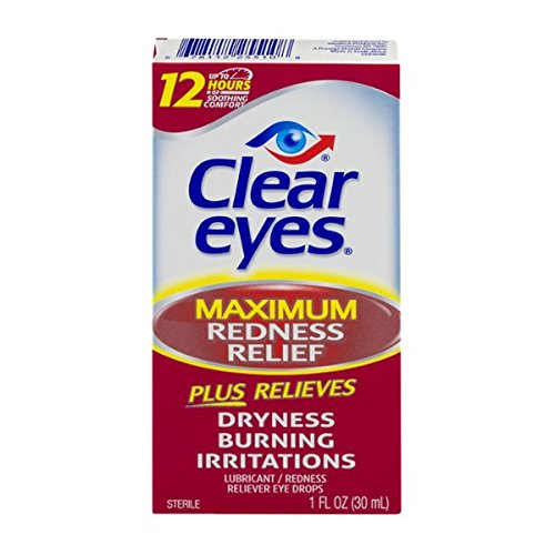 Health & Personal Care : Clear Eyes Maximum Redness Relief Eye Drops | Relieves Drying, Burning & Irritations | 1 Ounce