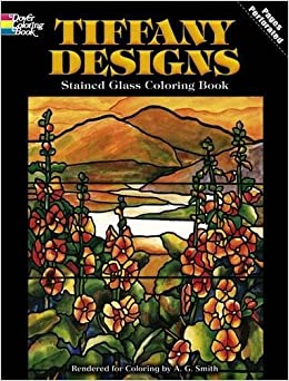 tiffany designs stained glass coloring book dover design stained glass coloring book - Stained Glass Coloring Books