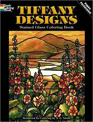 Tiffany Designs Stained Glass Coloring Book (Dover Design Stained ...