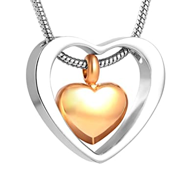 Two hearts urn necklace for ashes cremation jewelry memorial two hearts urn necklace for ashes cremation jewelry memorial keepsake pendant funnel kit included aloadofball Image collections