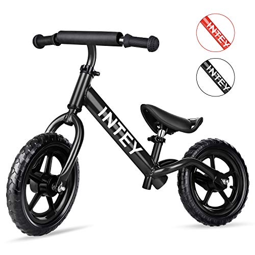 - INTEY Ultra-Light Balance Bike,12 Inch No Pedal Kids Bicycle for 2-5 Year Olds, Toddler Balance Bike Made of Aluminium Alloy, Adjustable Height, Anti-Vibration Structure, for Young Kids