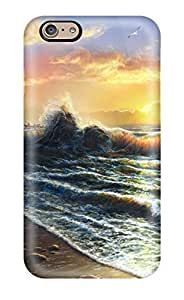 Iphone 6 Case Cover - Slim Fit Tpu Protector Shock Absorbent Case (tahiti)(3D PC Soft Case)