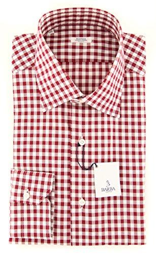 Barba Napoli New Red Check Slim Shirt (Napoli Red Shirt)