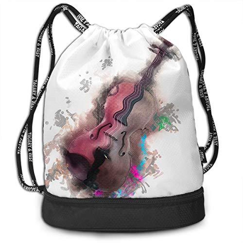 Address Verb Drawstring Backpack with Pocket Multifunctional Sturdy Violin Sackpack Sports Gym Shoulder String Bags -
