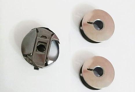 Canillero Cerrado 2 Canillas Metalicas Para Máquinas De Coser Alfa 1680 3940 3242 Etc Repuesto Original Amazon Es Hogar
