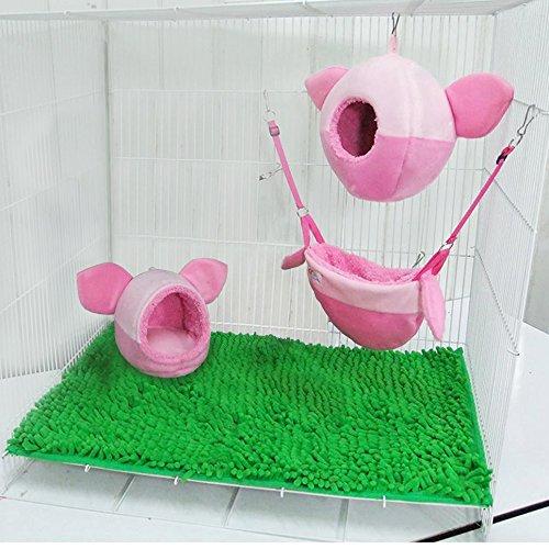 [3 piece KPS Sugar Glider Cage Set Pig-let Pattern] (Sock Puppet Costume Monkey)