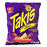 takis seasoning - Takis Fuego Hot Chili Pepper & Lime Tortilla Chips (12 Pack - 2 Oz. Bags)