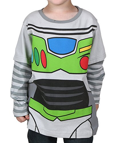 Disney Toy Story Little Boys' Toddler Long Sleeve Shirt Buzz Lightyear (3T)