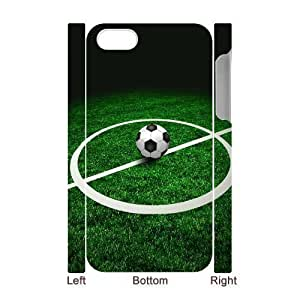 3D Bumper Plastic Case Of Football customized case For iPhone 5 5s