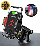 YKHENGTU Wireless Car Charger Mount, Auto Clamping Car Wireless Charger Holder Qi 10W/7.5W Fast Charging Compatible iPhone Xs/Xs Max/XR/X/ 8/8 Plus, Samsung Galaxy S10 /S10+/S9 /S9+/S8 /S8+ More,Black