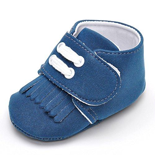Baby Boy borla maciza Guantes Azul - azul oscuro